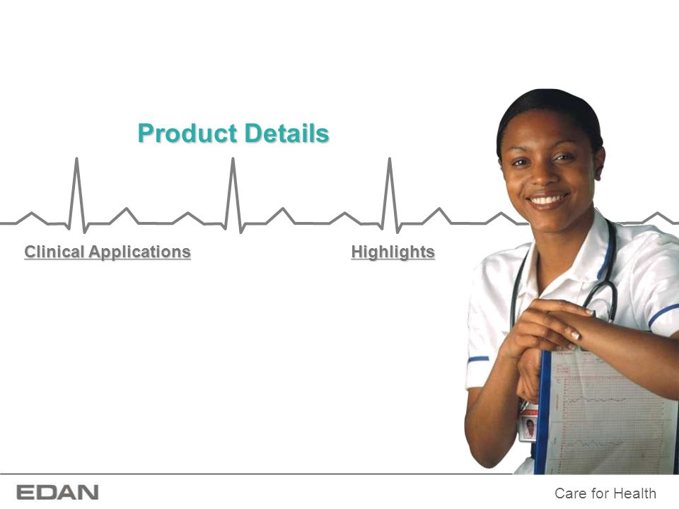 Care for Health Product Details With a data acquisition module and a set of comprehensive software program for acquiring, analyzing, storing and reviewing 12-channel ECGs, EDAN PC ECG system provides an all-in-one solution for both resting ECG and stress test.