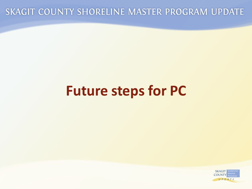Future steps for PC