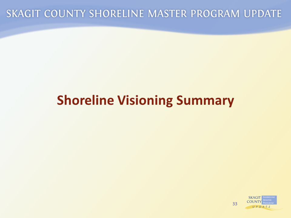 33 Shoreline Visioning Summary