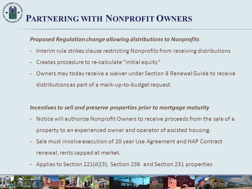 Proposed Regulation change allowing distributions to Nonprofits Interim rule strikes clause restricting Nonprofits from receiving distributions Create