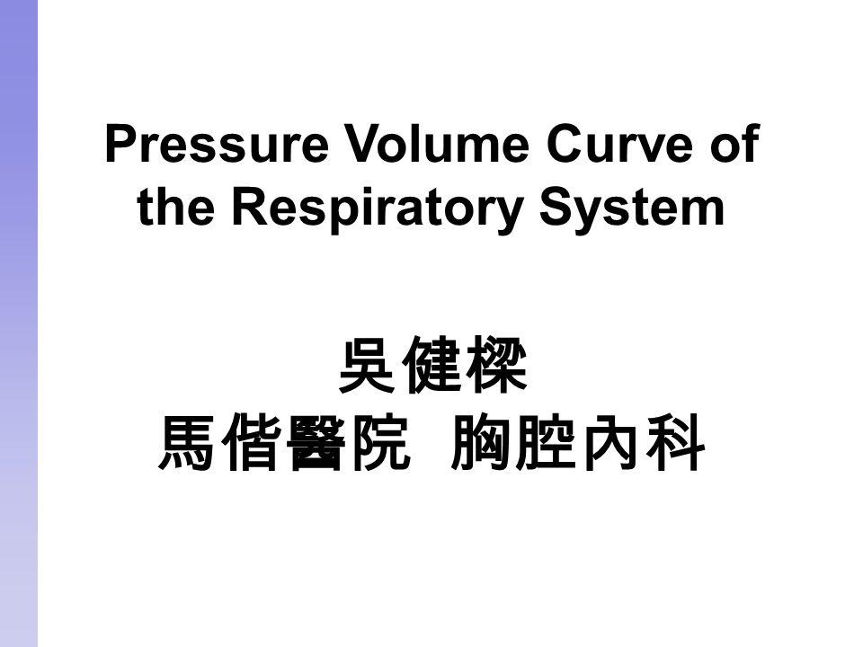 Pressure Volume Curve of the Respiratory System 吳健樑 馬偕醫院 胸腔內科