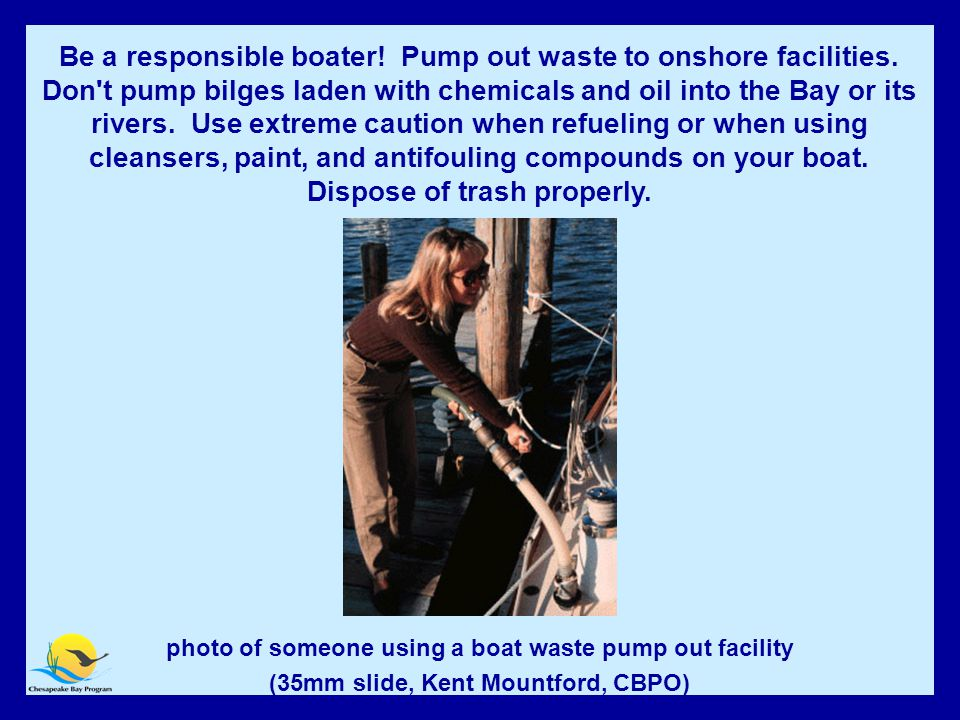 Be a Responsible Boater.