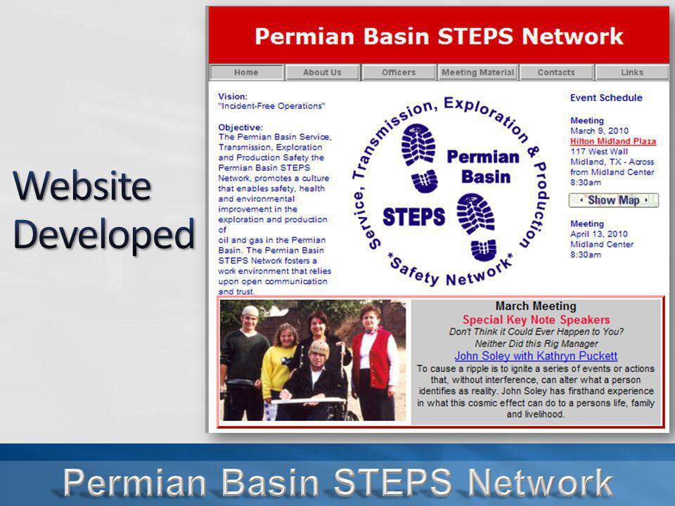 September 2008 - Signed an alliance with OSHA September 2010 – Renewed Alliance Dean McDaniel, Regional Administrator Region VI Present to sign Alliance