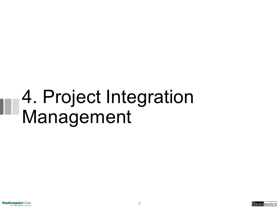 Using Software to Assist in Project Integration Management Several types of software can be used to assist in project integration management Documents can be created with word processing software Presentations are created with presentation software Tracking can be done with spreadsheets or databases Communication software like e-mail and Web authoring tools facilitate communications Project management software can pull everything together and show detailed and summarized information Business Service Management (BSM) tools track the execution of business process flows 55