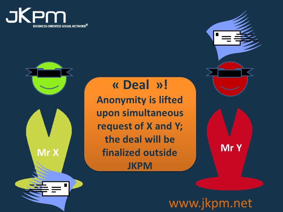 BUSINESS ORIENTED SOCIAL NETWORK ® www.jkpm.net « Deal ».
