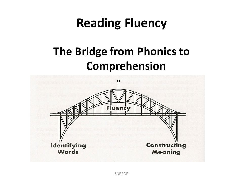 Reading Fluency The Bridge from Phonics to Comprehension SNRPDP