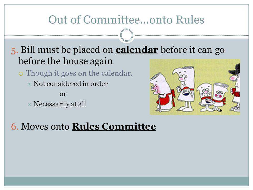 Rules Committee Adopt a rule to govern the procedures under which the bill will be considered 1.