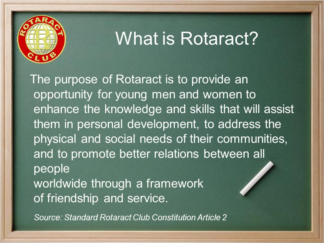 Pitfalls to Avoid Relationship damagers: ● Treating Rotaractors as children ● Instructing / taking over rather than advising ● Expecting help / support from Rotaractors but not giving any in return