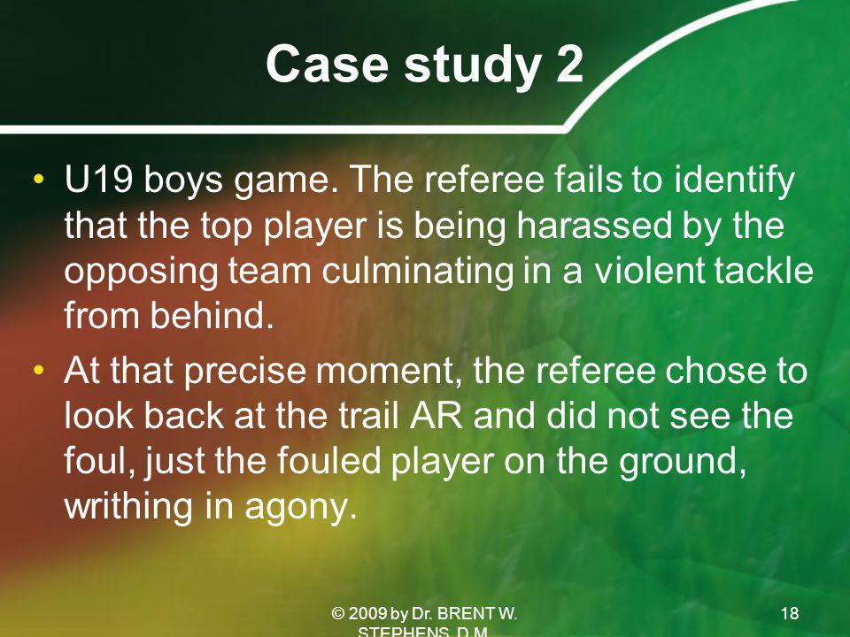 Case study 2 U19 boys game.