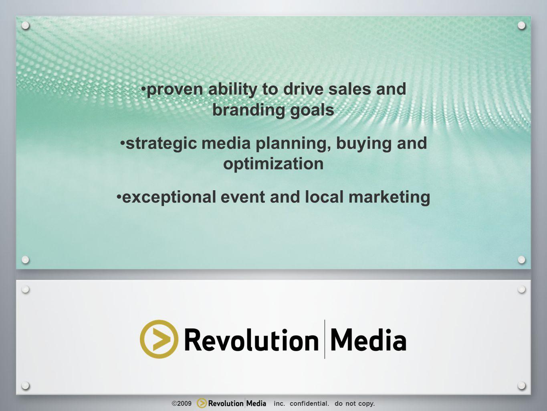 24 The New Retail Analytics retail marketing expertise brand + call-to-action local marketing holistic marketing macro micro optimization ©2009 inc.