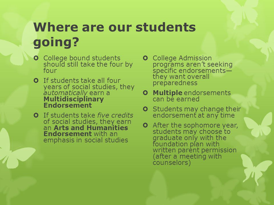 Where are our students going.