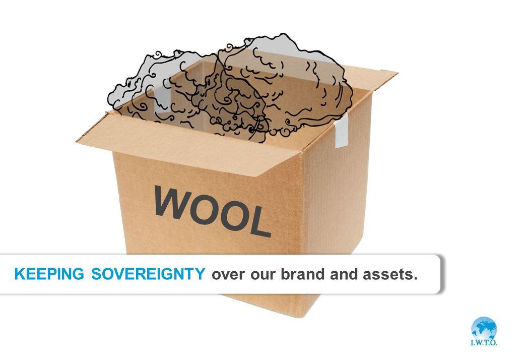 Slide 13 Benefit WOOL KEEPING SOVEREIGNTY over our brand and assets.