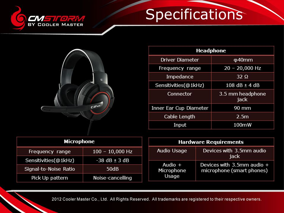 ModelCeres-400TT Shock spinSennheiser PC131Creative Fatal1ty MSRP (USD)$49.99$69.99$39.99$49.99 Noise filtering Mic YesNoYes Fold up auto mute Mic YesNo WeightLess than 250gN/A122g200g Remote Control in line Yes Cable length2.5mN/A3m2.5mm Connector3.5mm Driver size40mm50mmUnknown40mm USB soundcard OptionalNo Smart phone Cable OptionalNo Comparison