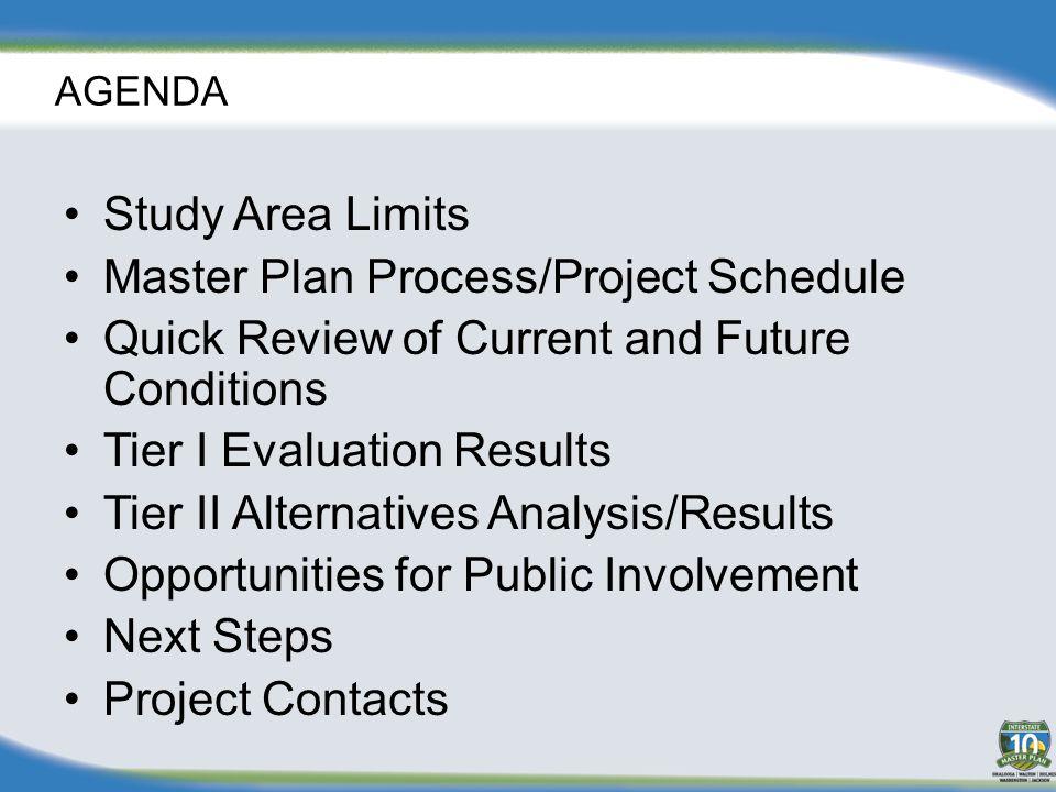 STUDY AREA LIMITS Begin Project Santa Rosa/Okaloosa County Line Begin Project Santa Rosa/Okaloosa County Line End Project Jackson/Gadsden County Line End Project Jackson/Gadsden County Line