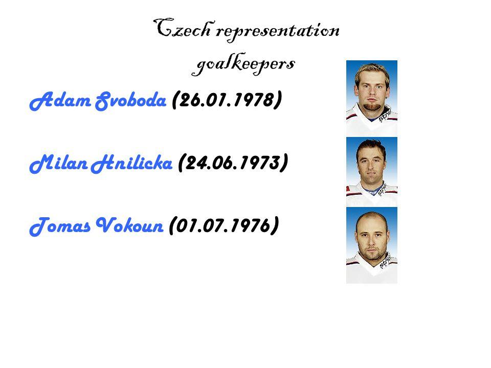 Czech representation goalkeepers Adam Svoboda (26.01.1978) Milan Hnilicka (24.06.1973) Tomas Vokoun (01.07.1976)