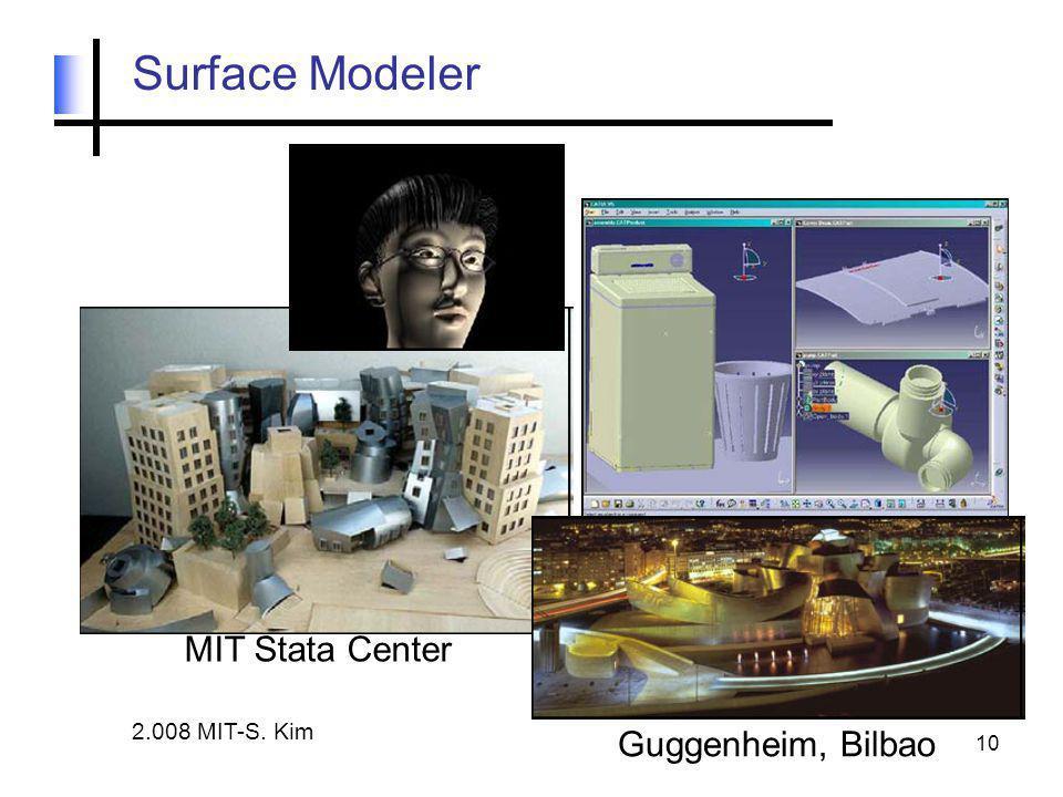 10 Surface Modeler MIT Stata Center Guggenheim, Bilbao 2.008 MIT-S. Kim