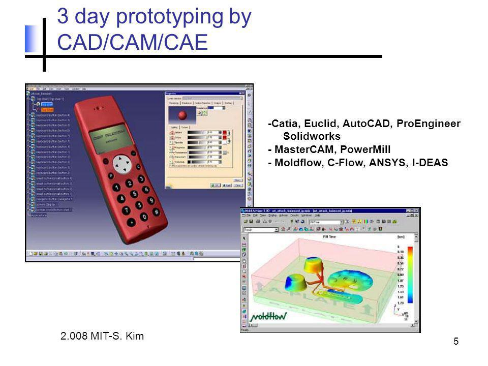5 3 day prototyping by CAD/CAM/CAE 2.008 MIT-S.
