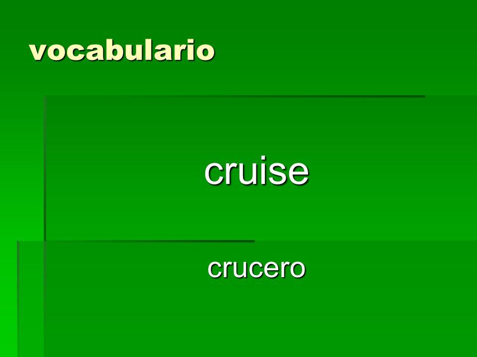vocabulario cruisecrucero