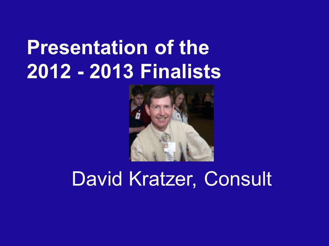 David Kratzer, Consult Presentation of the Finalists
