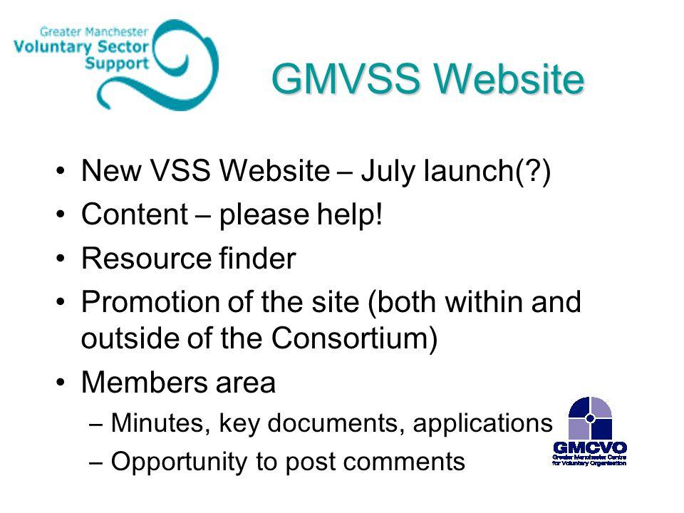 GMVSS Website New VSS Website – July launch(?) Content – please help.