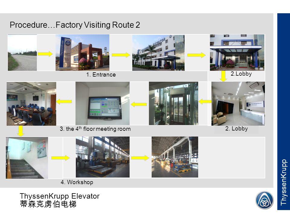 ThyssenKrupp Elevator 蒂森克虏伯电梯 ThyssenKrupp 4.Workshop (optional) 5..Electric workshop 8.