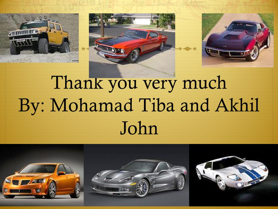 Thank you very much By: Mohamad Tiba and Akhil John
