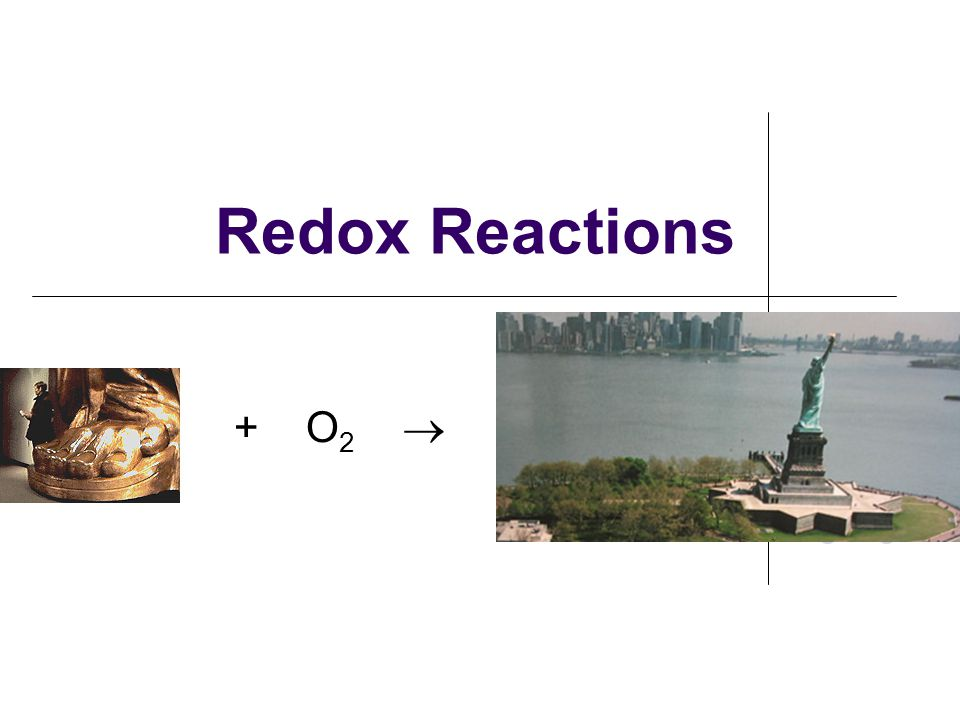 Oxidation-Reduction (Redox) Reactions redox reactions: rxns in which electrons are transferred from one species to another oxidation & reduction always occur simultaneously we use OXIDATION NUMBERS to keep track of electron transfers