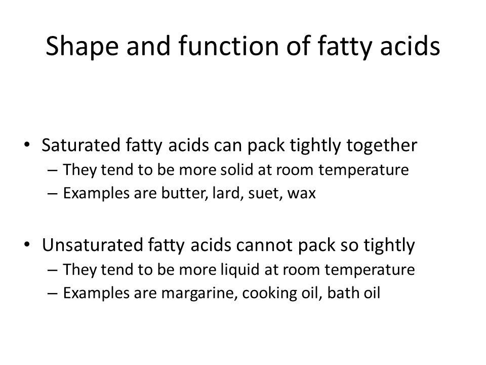 Fatty acids and glycerol CH 2 -OH HO-CO.(CH 2 ) n.CH 3 │ CH-OH HO-CO.(CH 2 ) n.CH 3 │ CH 2 OH HO-CO.(CH 2 ) n.CH 3 CH 2 -O-CO.(CH 2 ) n.CH 3 │ CH-O-CO.(CH 2 ) n.CH 3 │ CH 2 -O-CO.(CH 2 ) n.CH 3 LipolysisEsterification + 3H 2 O