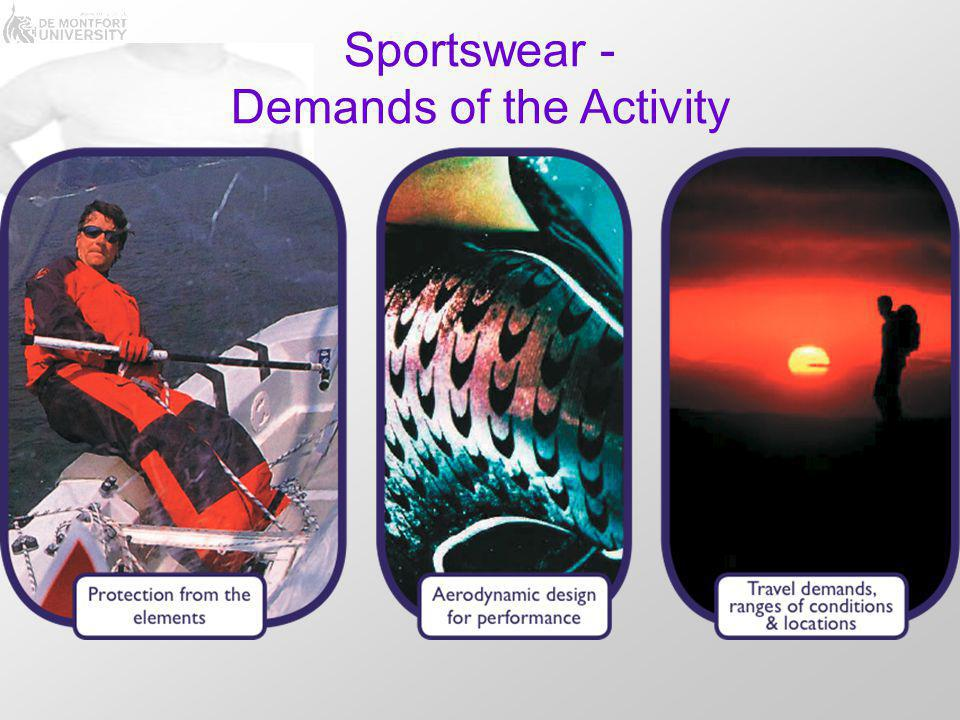 Sportswear - Demands of the Activity