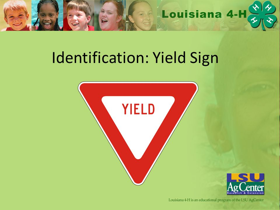 Identification: Yield Sign
