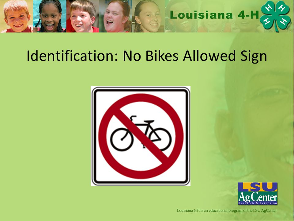 Identification: No Bikes Allowed Sign