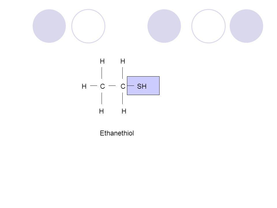 H H C C SH H H Ethanethiol