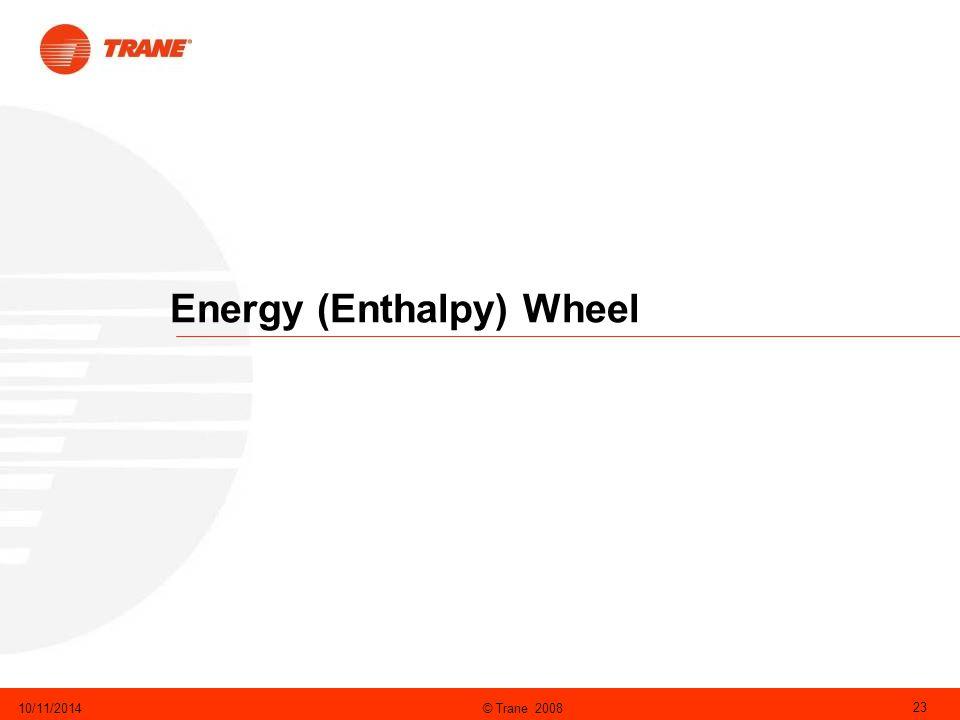 © Trane 200810/11/2014 23 Energy (Enthalpy) Wheel