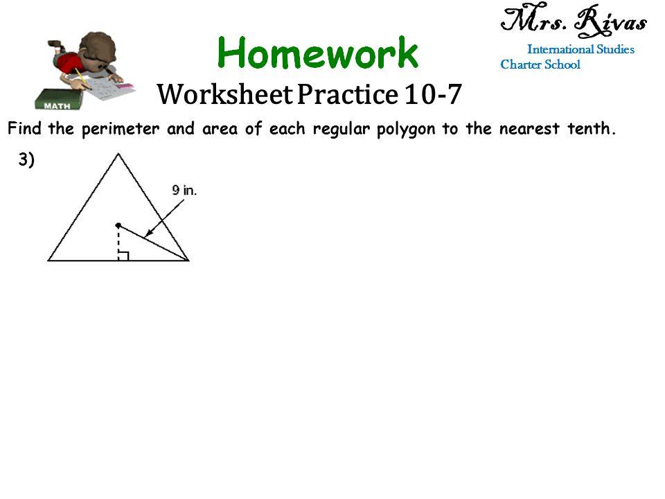 Worksheet Practice 10-7 Mrs.