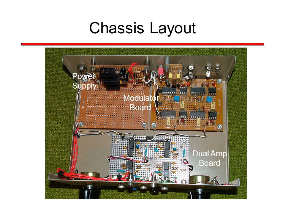 Chassis Layout Power Supply Dual Amp Board Modulator Board