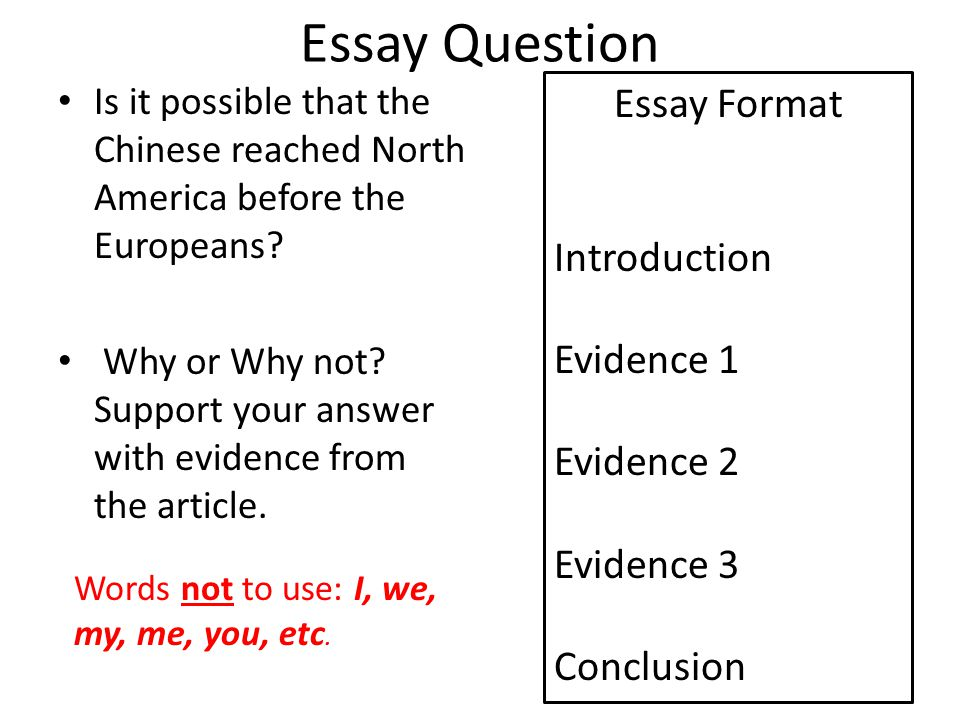 Essay Question Is it possible that the Chinese reached North America before the Europeans.