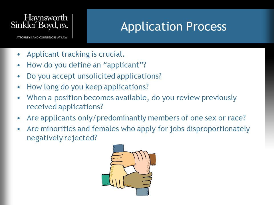 Application Process Applicant tracking is crucial.