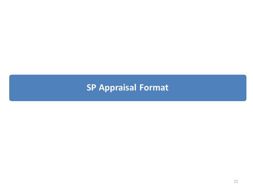SP Appraisal Format 11
