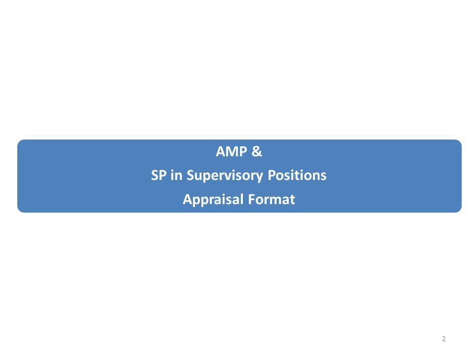 AMP & SP in Supervisory Positions Appraisal Format 2