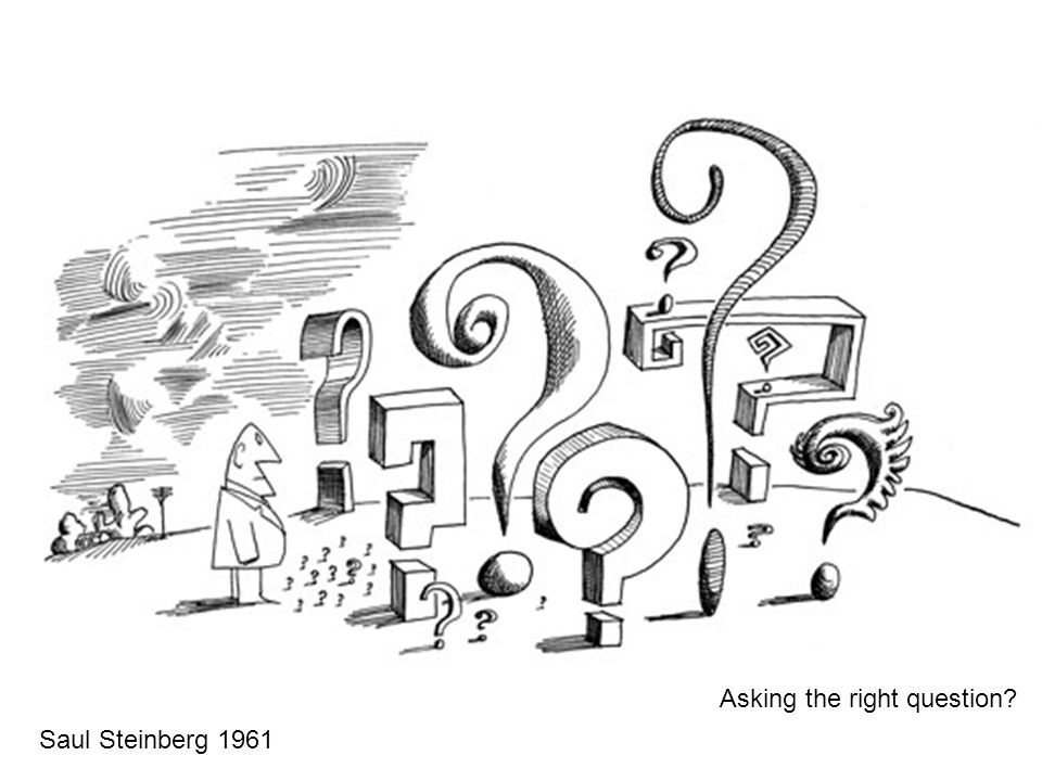 Saul Steinberg 1961 Asking the right question?