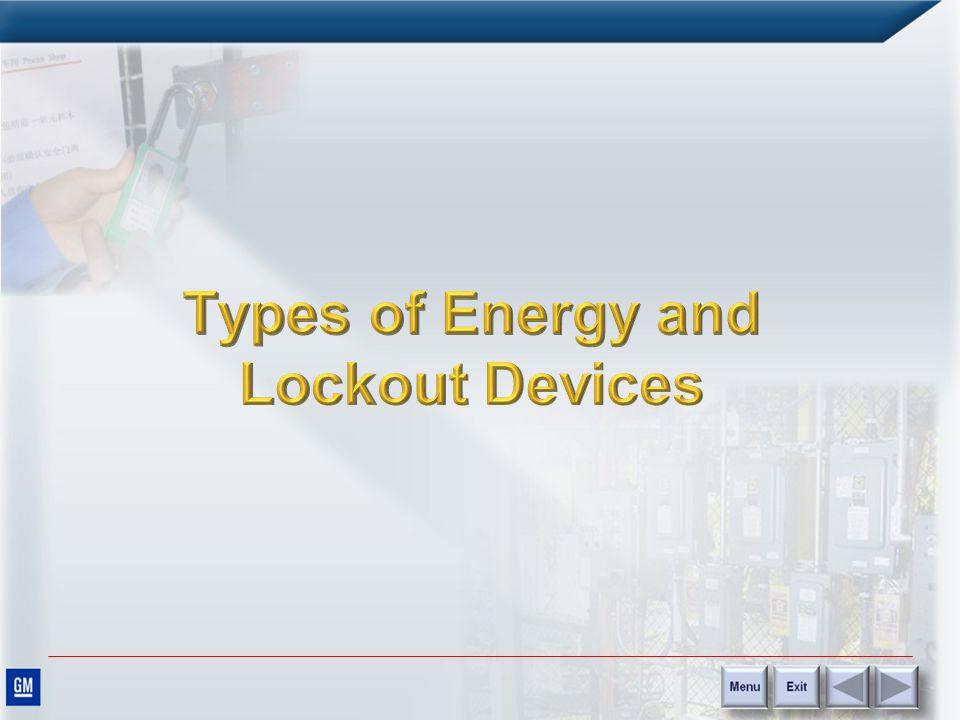 Lockout Energy Control Each SOP must contain the following information: –Machine/equipment identifier –Date –Written by –Task –Hazard(s) –Purpose –Pre