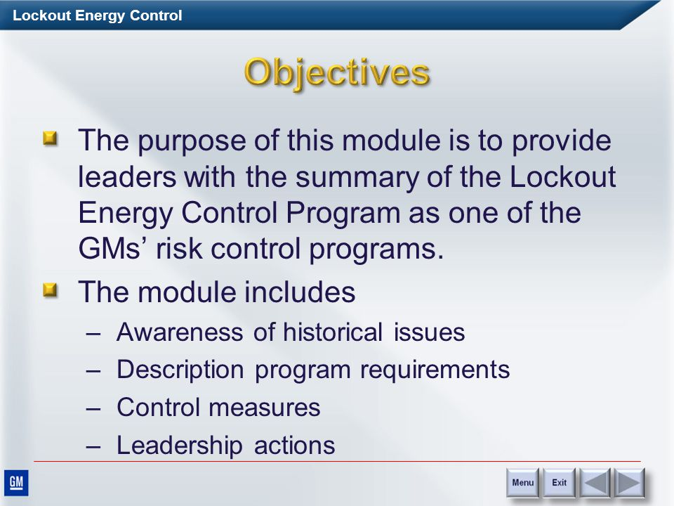 Lockout Energy Control Resources Requirements for Lockout Energy Control Requirements for Lockout Energy Control Requirements for Lockout Energy Contr
