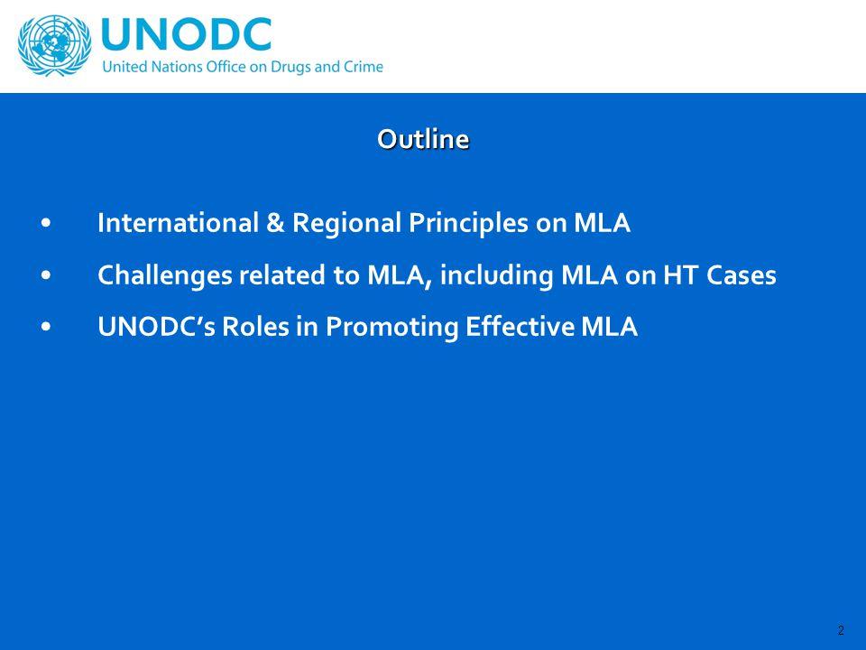 International & Regional Principles on MLA UNCTOC –International human trafficking involving an organized criminal group –Ratifying HT Protocol Applying UNCTOC provisions regarding MLA & extradition