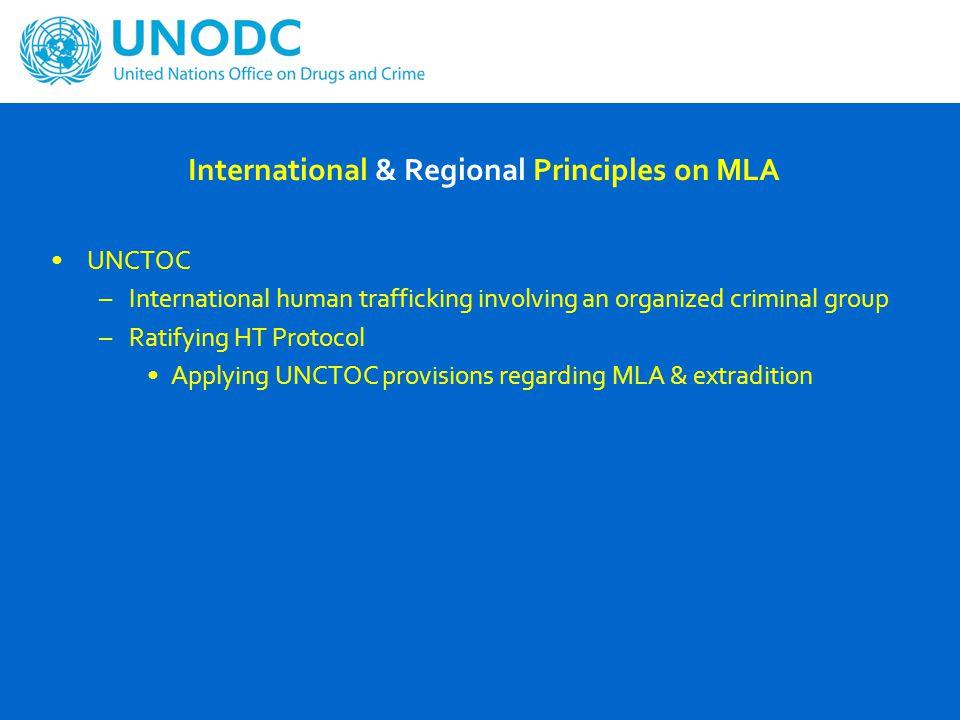 International & Regional Principles on MLA ASEAN MLAT Other ASEAN regional instruments –ASEAN Convention on Counter-Terrorism