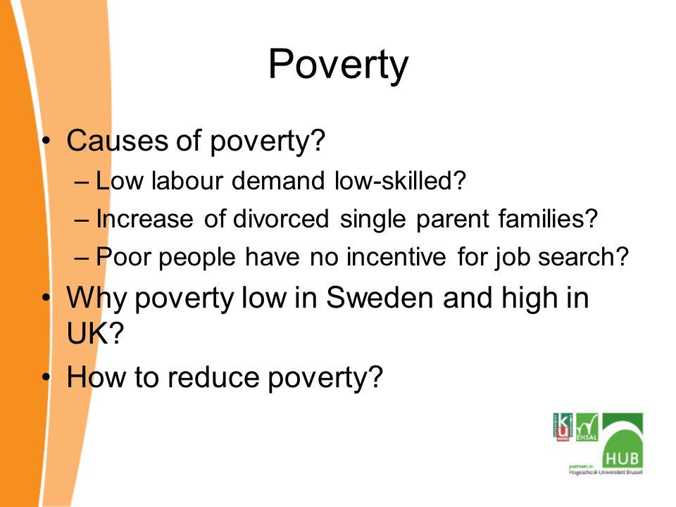 Poverty Causes of poverty.–Low labour demand low-skilled.