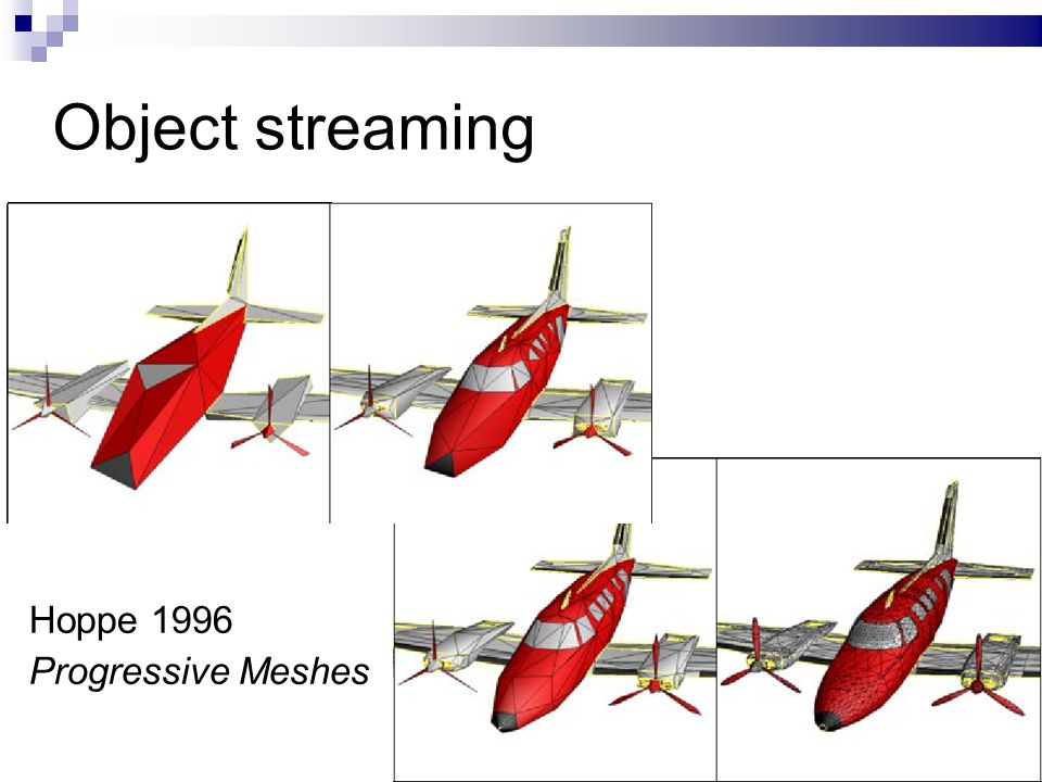 14/ Object streaming Hoppe 1996 Progressive Meshes