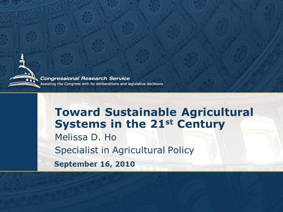 Toward Sustainable Agricultural Systems in the 21 st Century Melissa D.