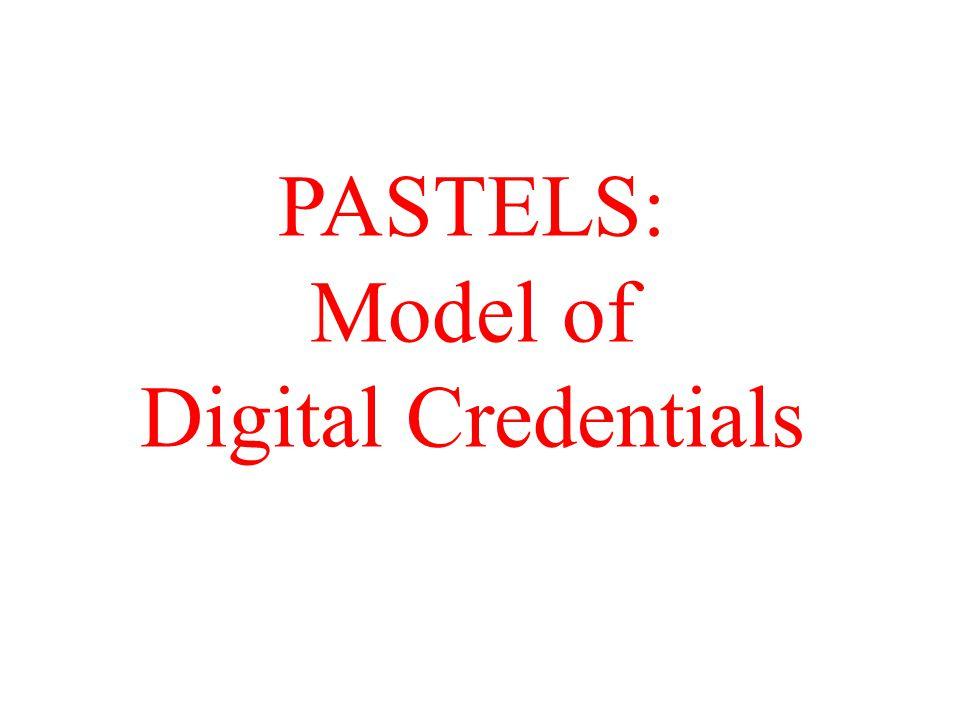 PASTELS: Model of Digital Credentials