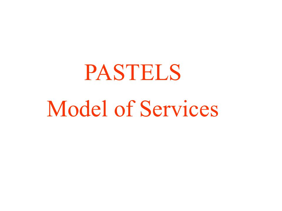 PASTELS Model of Services