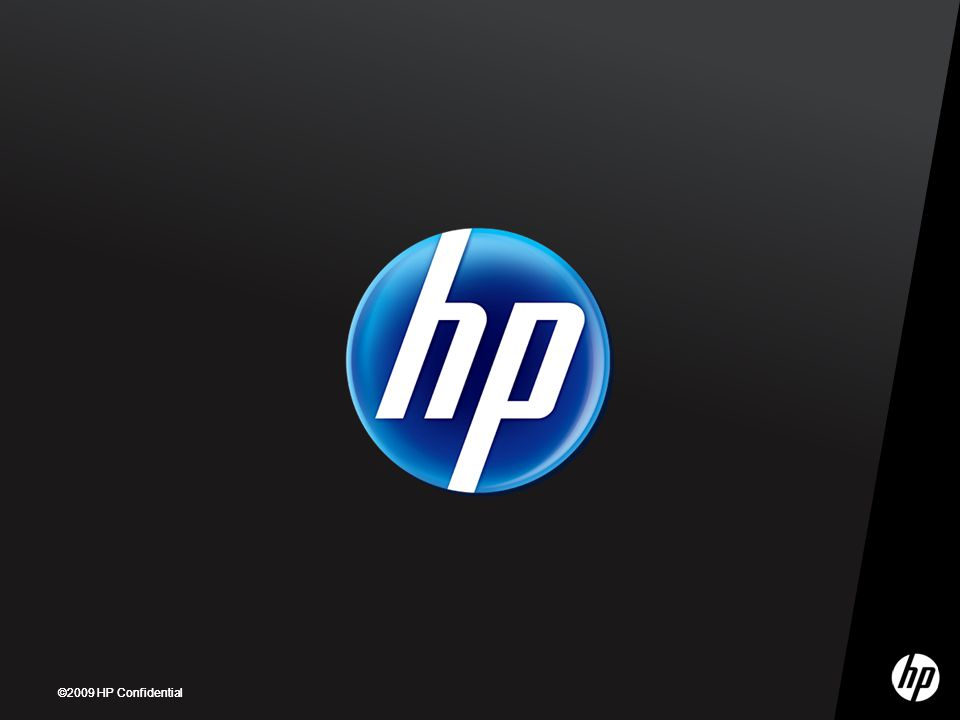 ©2009 HP Confidential